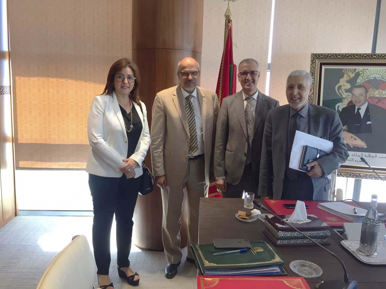 لقاء رئيس المجلس الوطني مع اللجنة المشتركة المكلفة بإصلاح منظومة التكوين الطبي